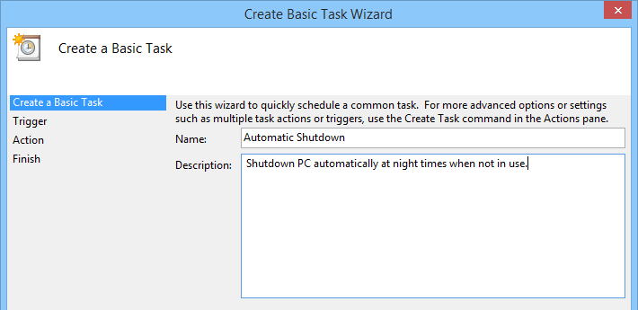task creation wizard
